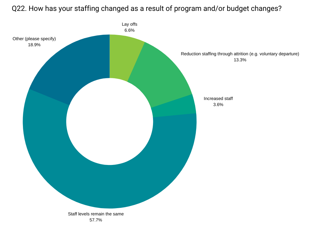 effects of changes on staffing 2019