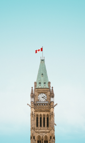 Photograph of the Peace Tower, Ottawa, Canada